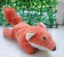 Klasyczny czerwony lis zabawki gorąca sprzedaż śliczne pluszowe zabawki lodówka magnes na lodówkę lodówka magnes pluszaki