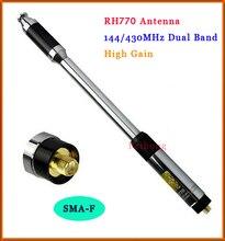 Nouveau RH770 double bande 144/430MHz haute Gain SMA-F télescopique portable antenne Radio pour la récolte Kenwood BAOFENG
