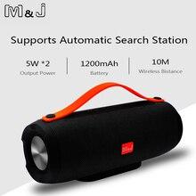 M & J Portable sans fil Bluetooth haut-parleur stéréo grande puissance 10W système TF FM Radio musique Subwoofer colonne haut-parleurs pour ordinateur