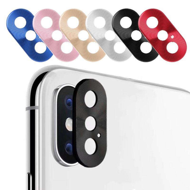 Protector de lente de Metal círculo de la Cámara Protector de la cubierta del anillo parachoques para el iphone 7 7Plus 8 8 Plus X anillo de protección de la lente
