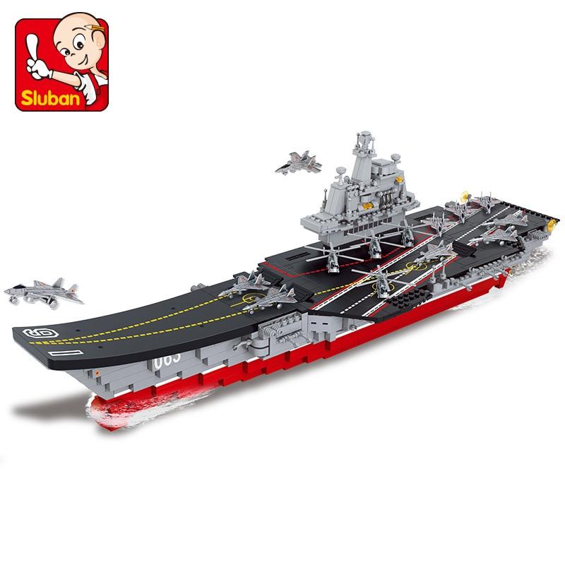 Sluban 2017 Новинка 0399 1:450 авианосец антподводные вертолеты строительные блоки игрушки набор корабль 3D Кирпичи DIY Бесплатная доставка