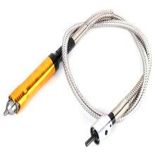 새로운 로타리 그라인더 도구 유연한 플렉스 샤프트 맞는 + 0.3-6.5mm 핸드 피스 Dremel 스타일 전기 드릴 로타리 도구 액세서리