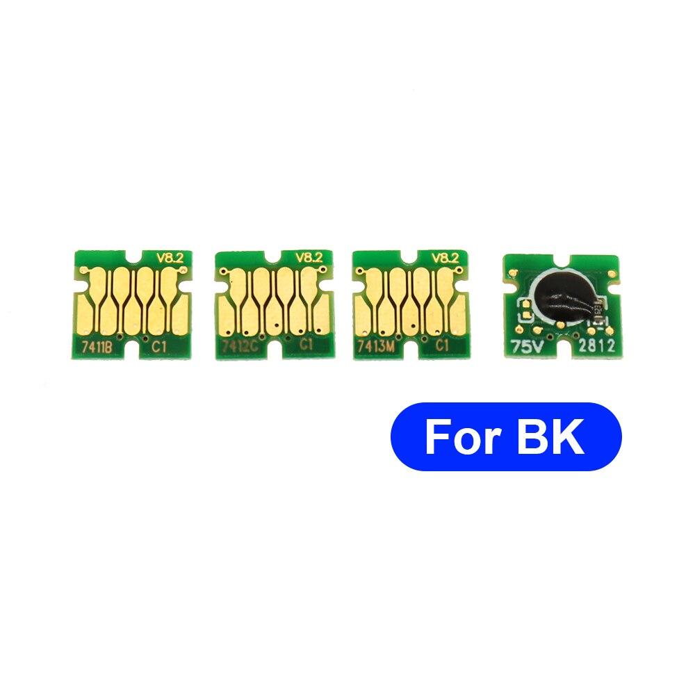T7411-T7414 chip de cartucho de tinta una vez chip para Epson F6000 F7000 F6070 F7070 F7100 F7170 F7200 F9200 F6200