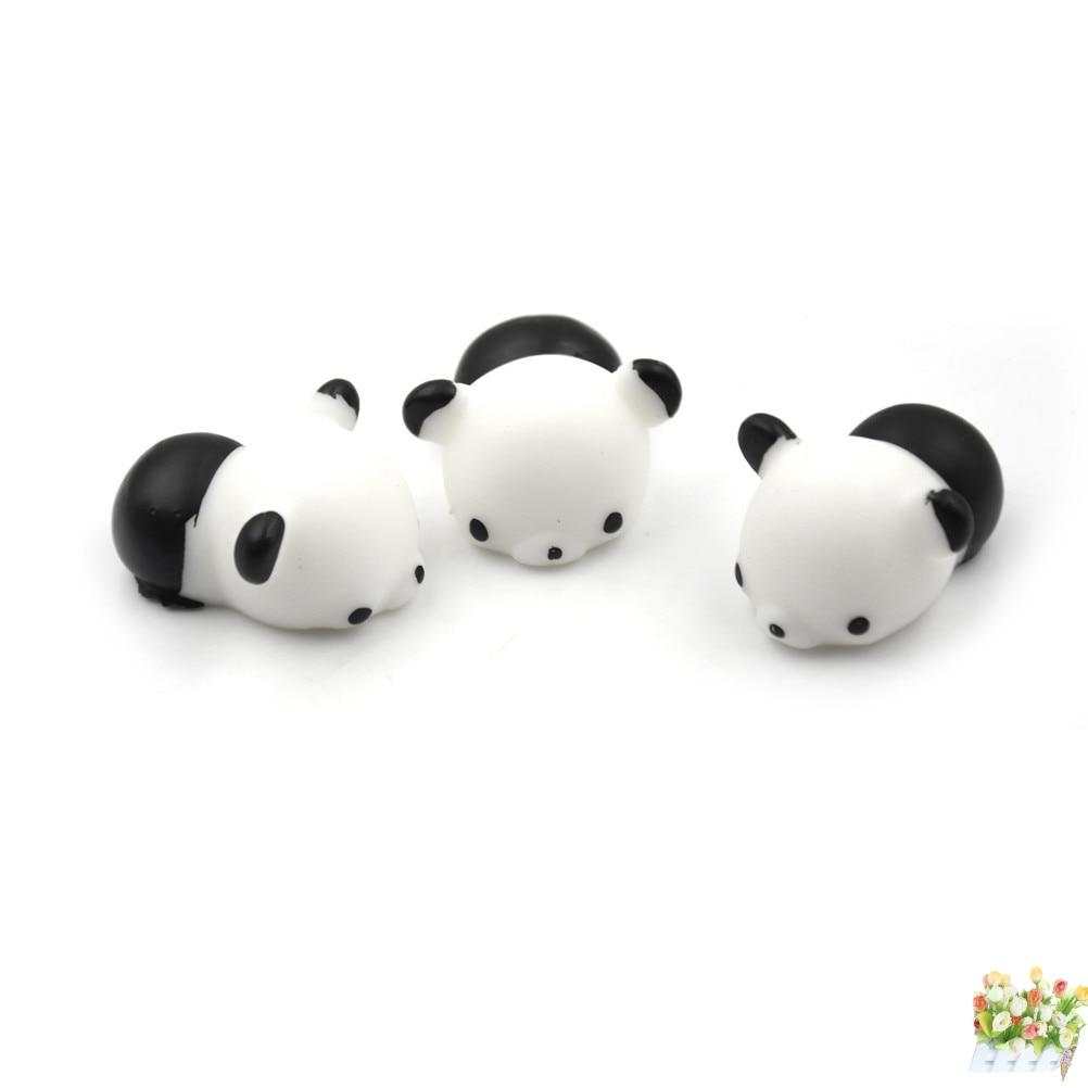 1PCS Cute Kawaii Decompress Anti-stress Squishy Panda Mochi Squeeze Stretchy charms Phone Straps