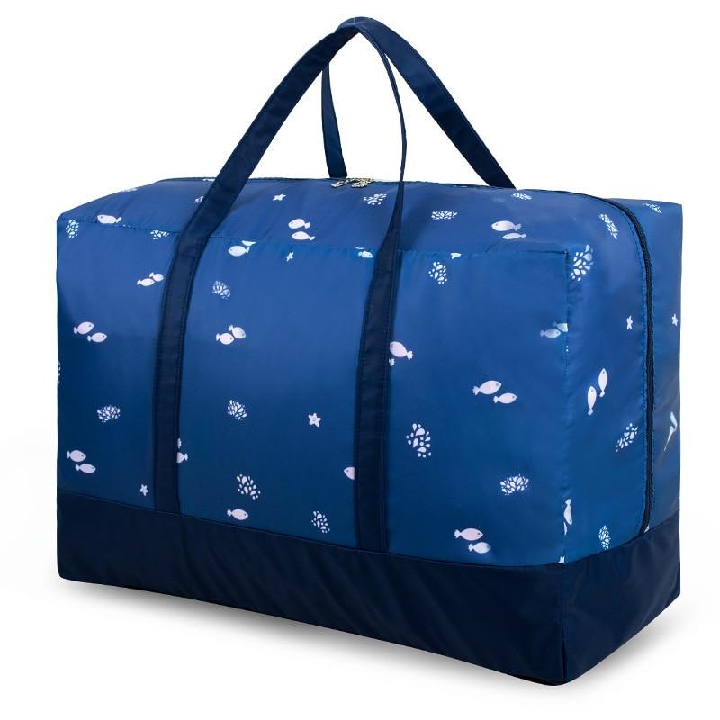 Inicio bolsos de almacenamiento para edredón de tela Oxford polvo cubre ropa de cama armario ropa almacenamiento organización suave cómoda bolsa de mano