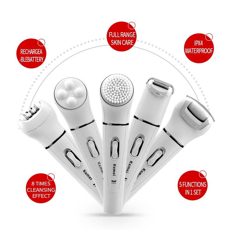 Kit profesional de herramientas de belleza Facial y corporal 5 en 1, depiladora de cabello para mujeres, herramienta de masaje de extracción y afeitadora de callos X31