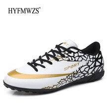 HYFMWZS gazon Chaussure Football Superfly garçons chaussures de Football hommes antidérapant enfants bottes de Football Krasovki respirant crampons de Football