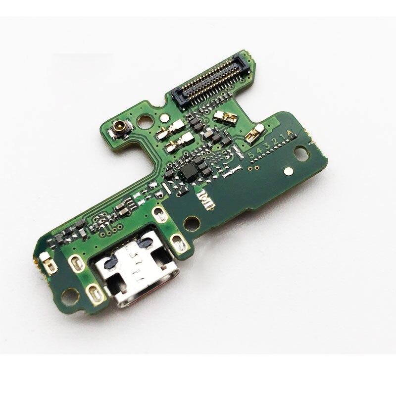 Nuevo para Huawei Honor 8 lite P8 2017 Tarjeta de puerto de carga USB cargador Dock Connector Plug Flex Ribbon con micrófono