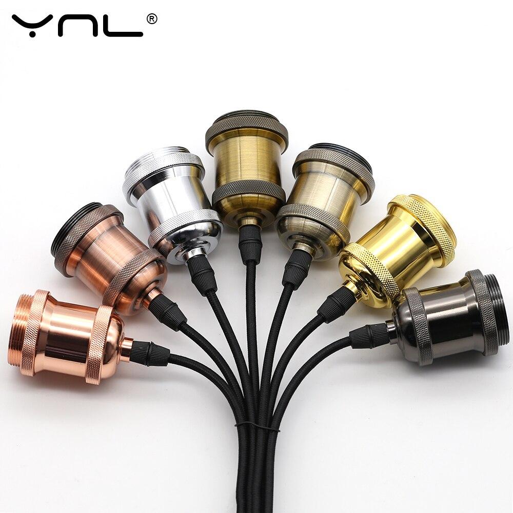 Современные алюминиевые подвесные светильники E27 держатель лампы 110 В 220 В светодиодные лампы накаливания винтажные Ретро лампы Эдисона Декор подвесной светильник