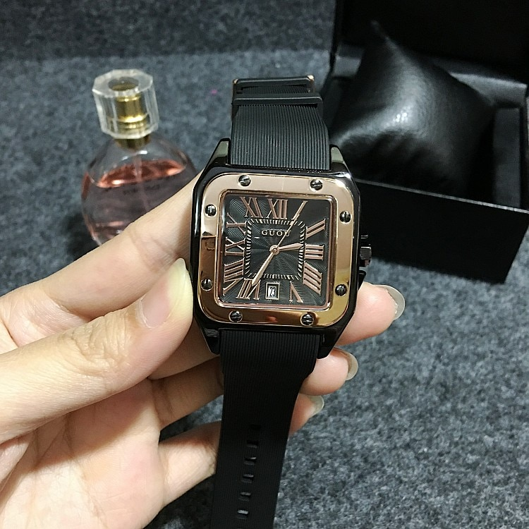 6 Colors GUOU Women Watches Lady Luxury Wristwatches Rubber Silicon Dress Watch Lady Square Quartz Watches Clocks GUOU8154 enlarge