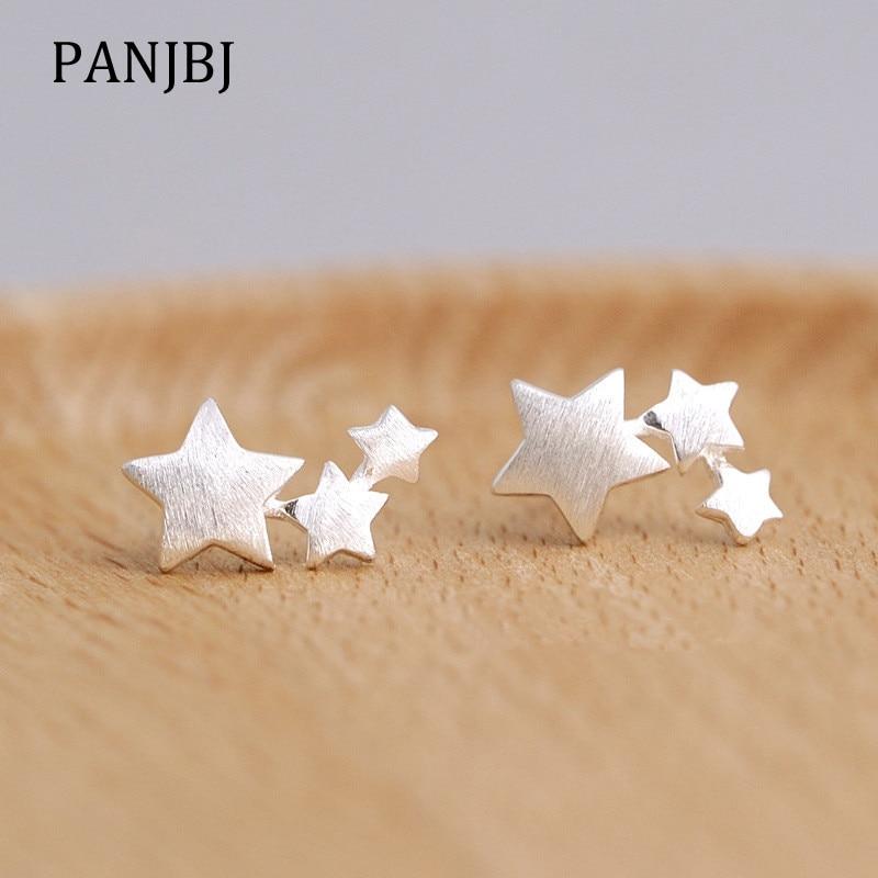 Estilo coreano prata cor estrelas brincos para mulheres brincos elegantes brincos moda jóias 2019 brincos moda jóias presentes