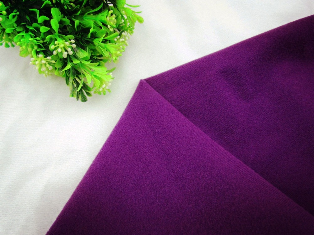9204 # Color púrpura profundo lazo de tela de lana puede pegar por arte de magia/cinta de costura DIY juguetes de peluche sofá material velboa de terciopelo (1 metro)