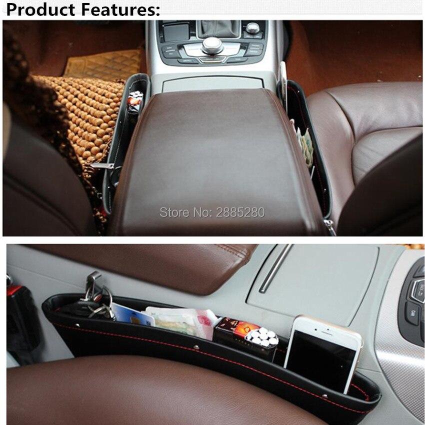 Coche asiento de cuero pu organizador caja para Toyota Corolla Avensis Yaris Rav4 Auris Hilux Prius Prado Camry 40 Celica
