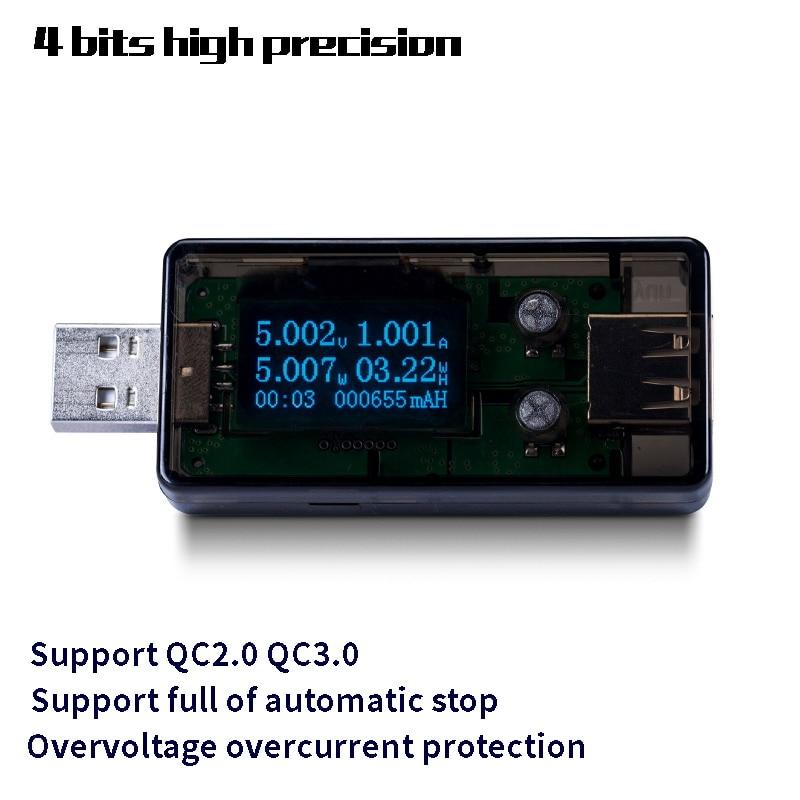 GWUNW BY56U 4 бит USB Тестер Вольтметр амперимметр Напряжение Амперметр детектор тока зарядное устройство индикатор емкости
