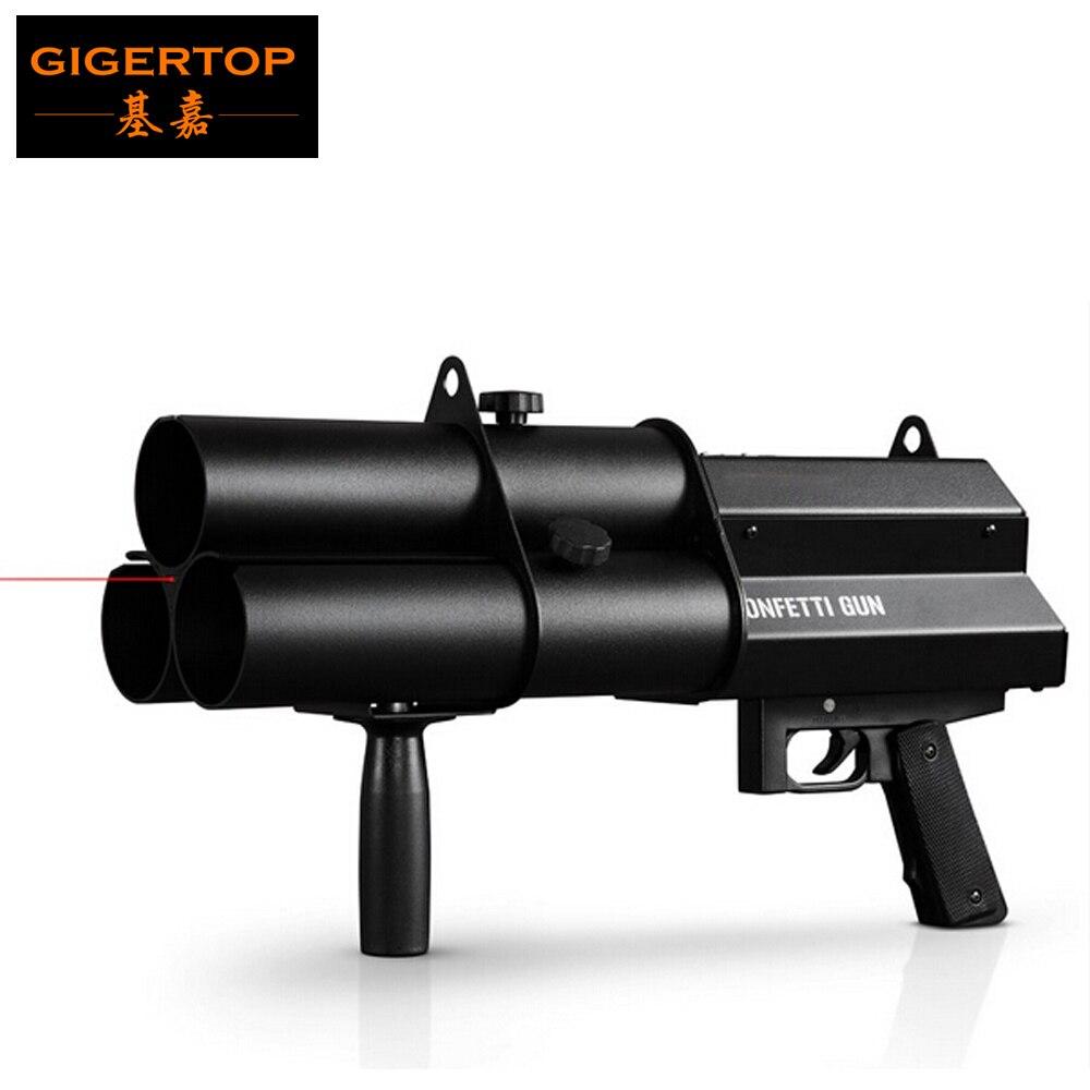 3 cabezas pistola de confeti/FX pistola de confeti para celebraciones, bodas, aperturas DJ Profesional pistola de confeti máquina de efectos escénicos