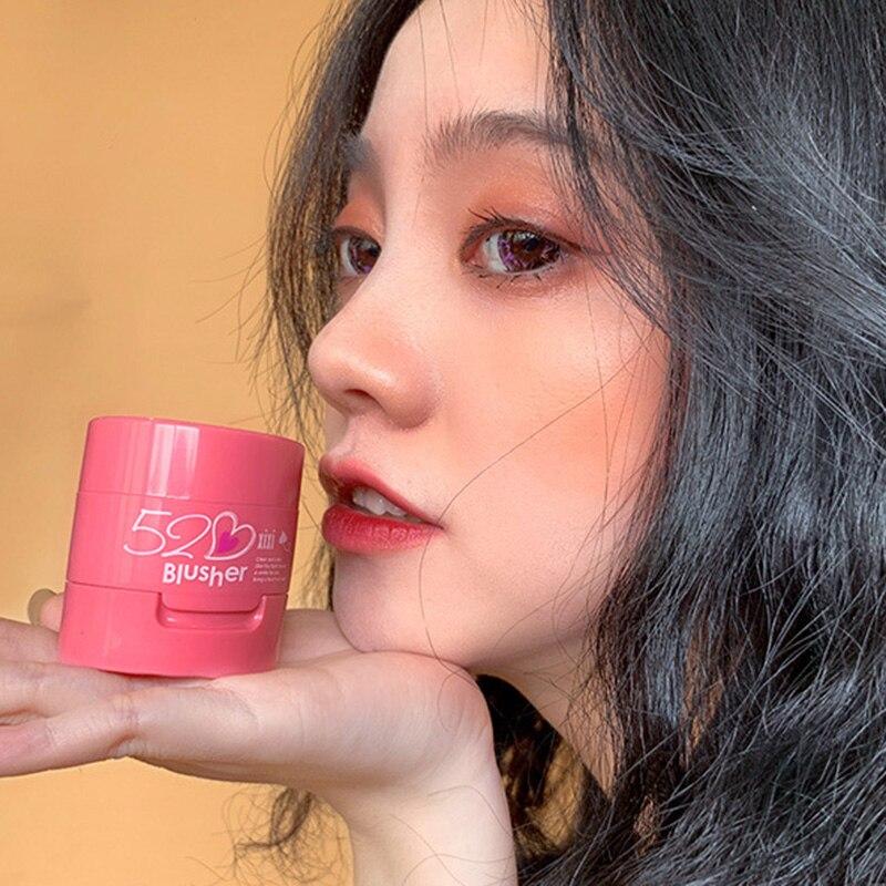 Paleta de colorete maquillaje Color melocotón naranja impermeable almohadilla de aire rubor Cream