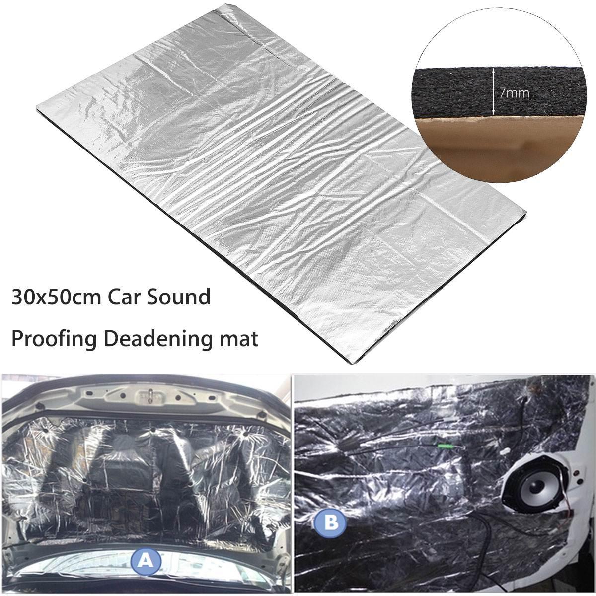 7mm 30x50cm Auto Sound Deadener Matte Noise Motorhaube Isolierung Trittschalldämmung Haube Motor Firewall Wärme Aluminium Schaum aufkleber