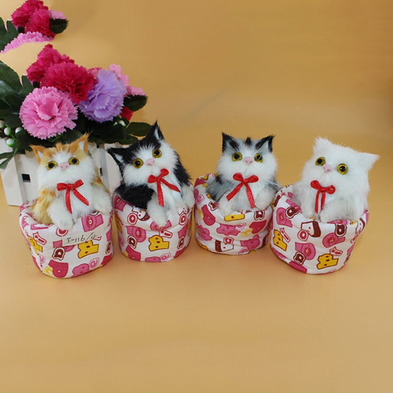 Lovely Simulation Animal Doll Plush Cat Toy Kids Toy Decorations Birthday Gift For Children Stuffed