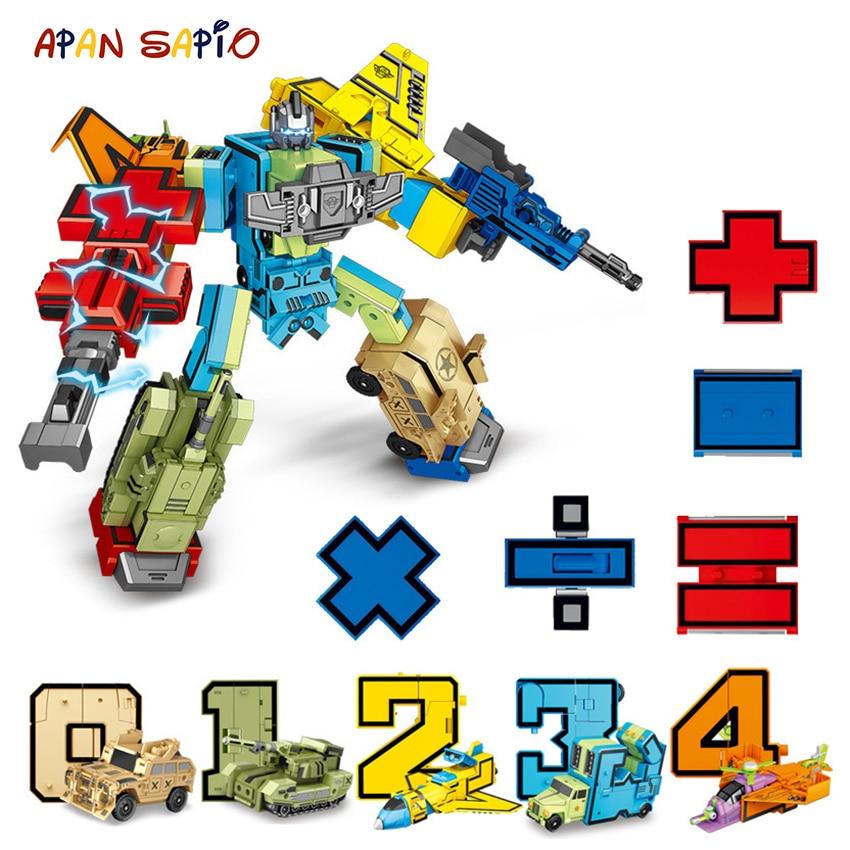 aliexpress.com - 10PCS Transformation Number Robot Toy Building Blocks Deformation Pocket Morphers Educational Action Figure Toy for Children