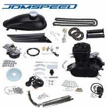 Freies Verschiffen-JDMSPEED 2 Hub 80cc Gas Fahrrad Motor Motor Kit DIY Motorisierte Fahrrad Chrom rohr Schwarz Farbe