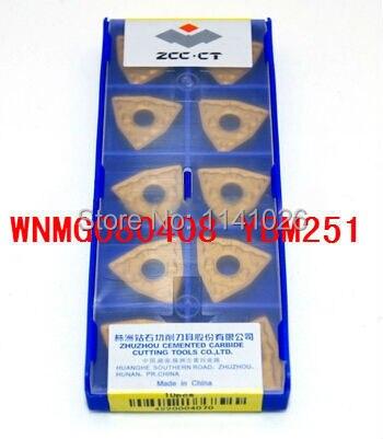 Free shopping! 10 inserts/box  WNMG080408 YBM251 Lathe Cutting Tools CNC blade alloy carbide cutting tool Turning Inserts