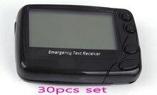 Téléavertisseurs alpha de 30 pièces, téléavertisseur alphanumberique portable W09N, récepteur de texte durgence sans fil, système de radiomessagerie Poscag
