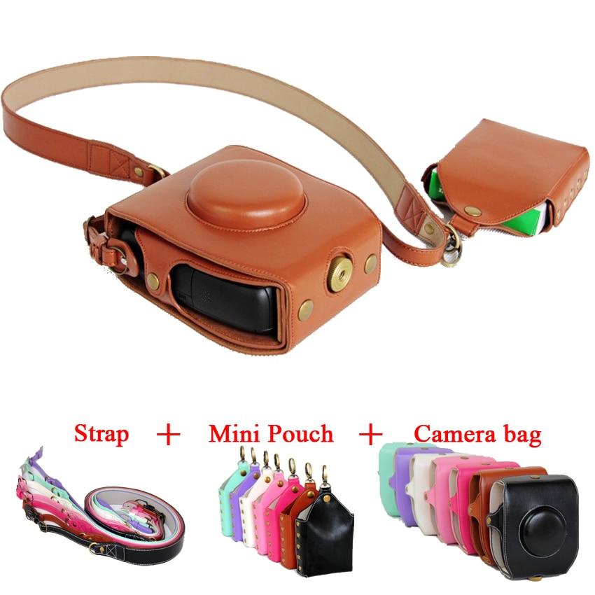 Новейший чехол для камеры из искусственной кожи, сумка через плечо для Fujifilm Instax SQ10 Fuji SQ10 7 цветов