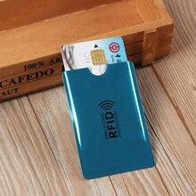 10 adet Anti Rfid engelleme okuyucu kilidi kart tutucu kimlik banka kartı durumda koruma alüminyum Metal akıllı Anti-theft kredi kart tutucu