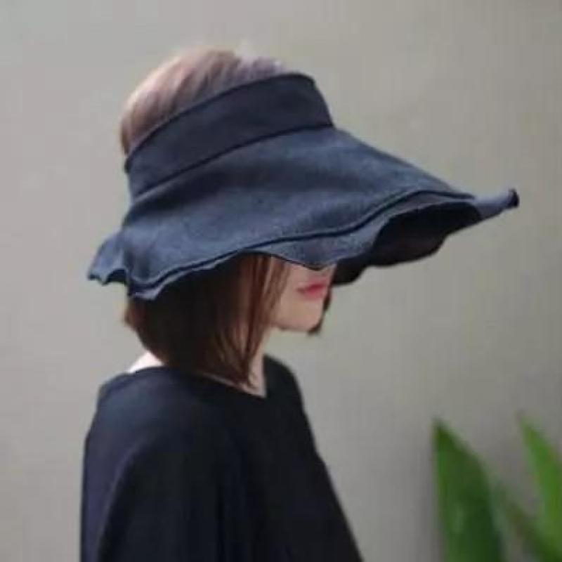 COKK Summer Hats For Women Folding Empty Top Sunscreen Shading Sun Hat Female UV Protection Beach Hat Visor Chapeau Femme New