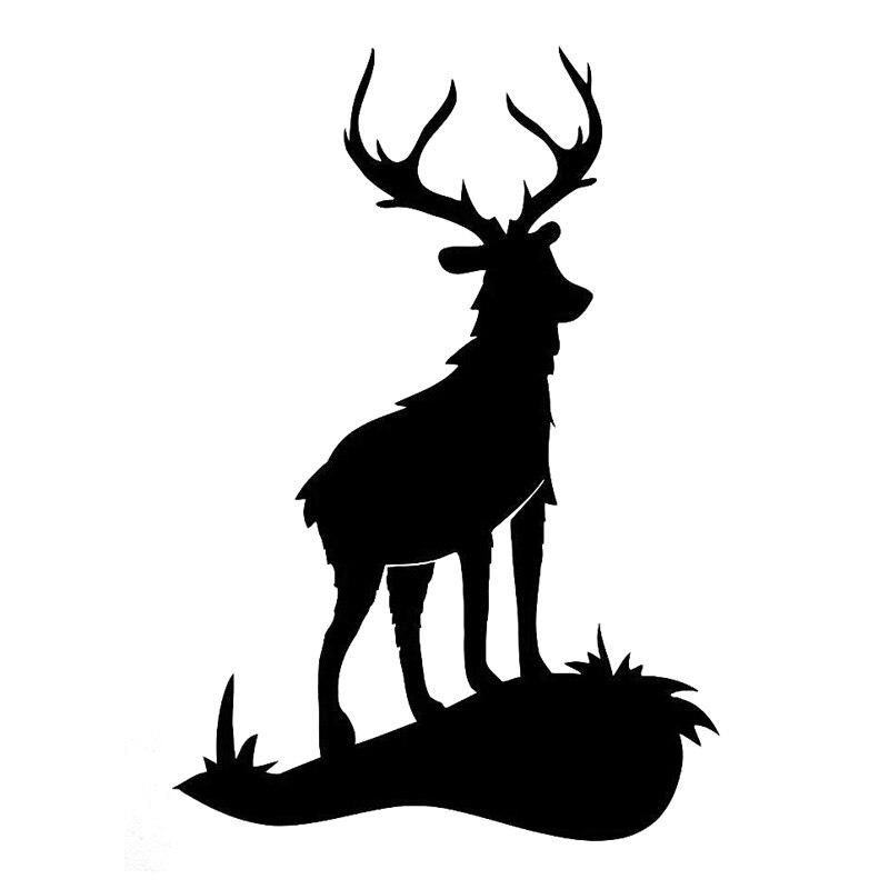 13,2 cm * 19,3 cm ciervo Animal caza pegatina a la moda...