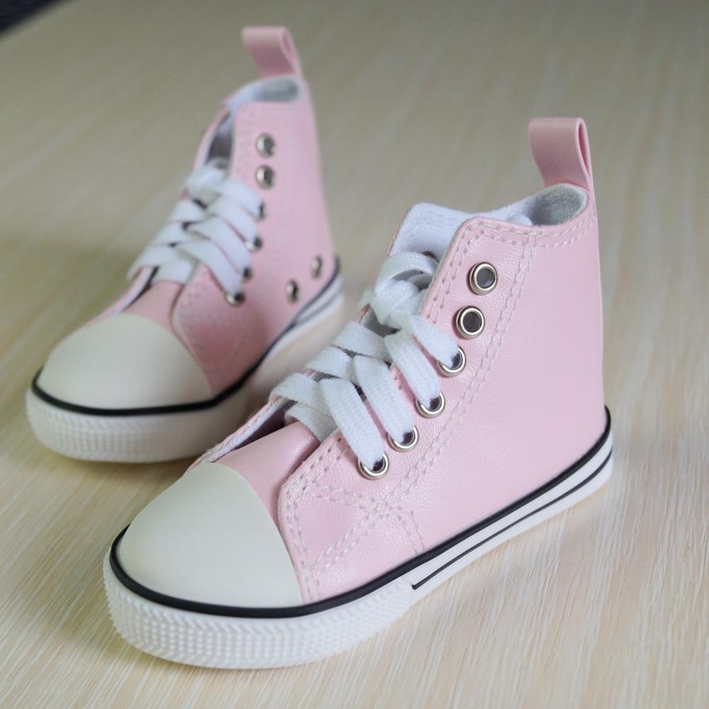 "BJD SHOES Pink Sneakers Canvas Shoes Sports Flats For 1/4 17"" 44cm 1/3 SD17 MSD SD YOSD BJD doll DK DZ AOD DD Doll FREE SHIPPING"