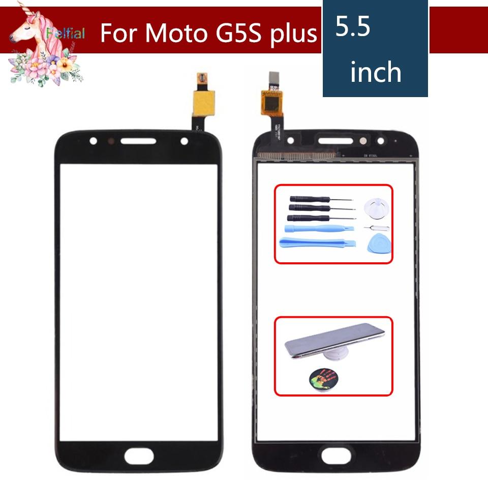 10 unids/lote ORIGINAL para Motorola Moto G5S Plus XT1802 XT1803 XT1805 XT1086 Sensor de Panel de vidrio frontal digitalizador de pantalla táctil