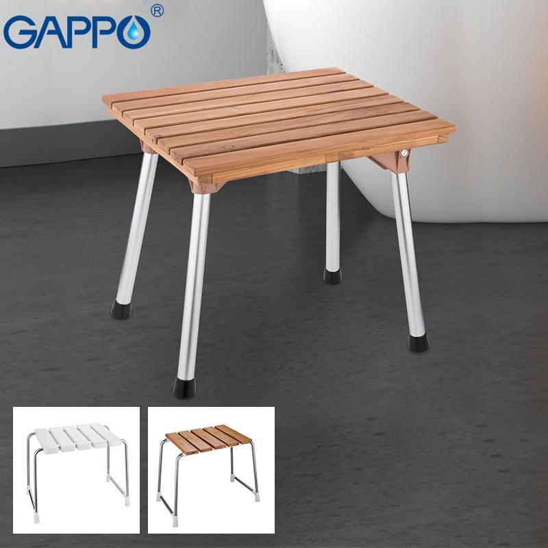 GAPPO-مقاعد دش قابلة للطي مثبتة على الحائط ، ومقعد حمام ، ومقعد دش