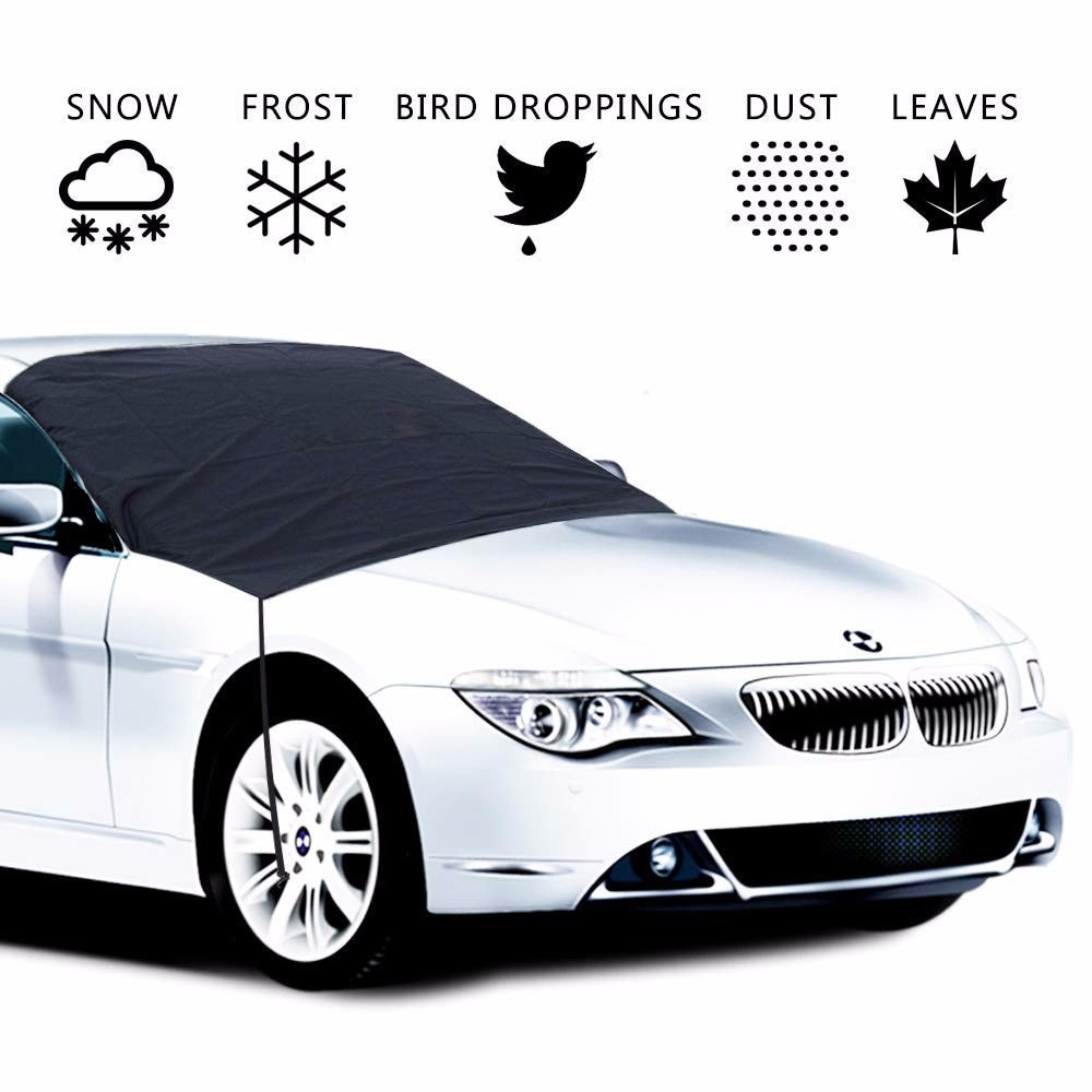 Cubierta de medio parabrisas magnético Universal para coche, protección de invierno para sol, nieve, hielo y viento
