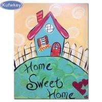 Peinture diamant theme  home sweet home   broderie complete 5D  points de croix  perles carrees ou rondes  cristal  a faire soi-meme