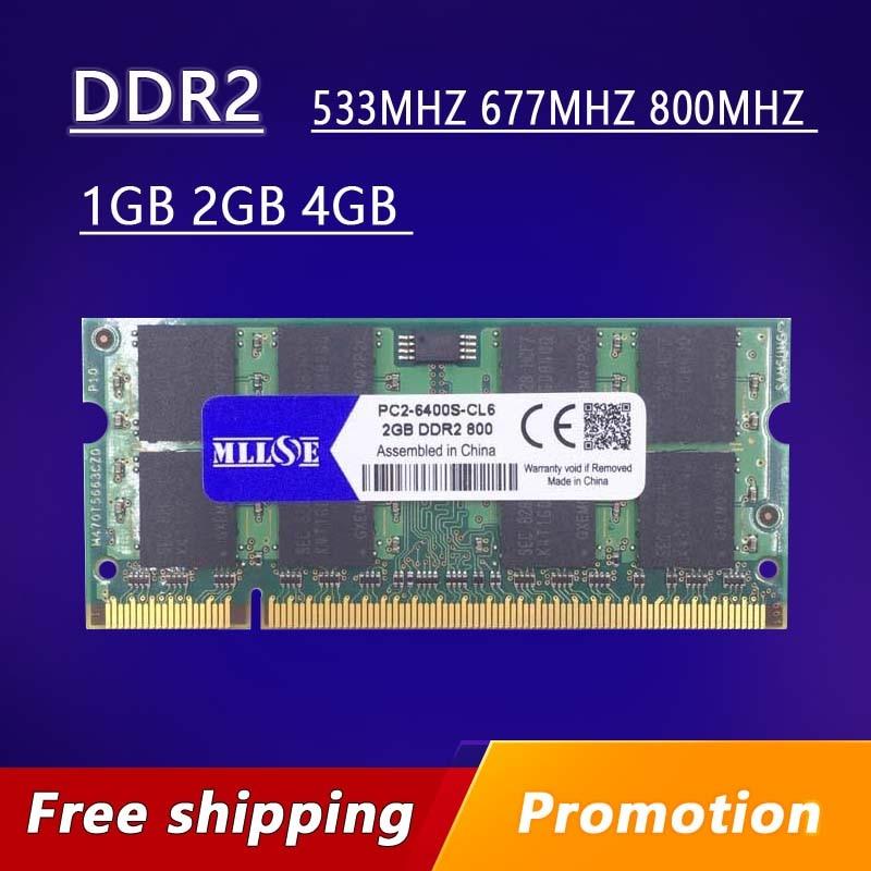 Memoria Ram DDR2 para ordenador portátil, 1gb, 2gb, 4gb, 667, 800, 533...