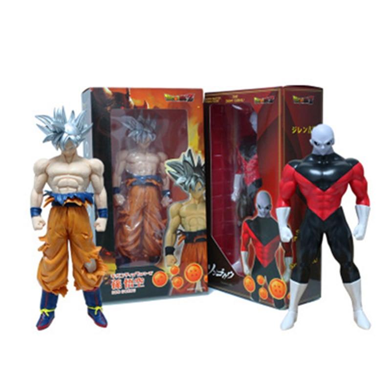 30CM Dragon Ball Super Goku Dios Super saiyayin Haiiro No Jiren figura juguetes de PVC colección de figuras de acción juguetes MODELO DE H751