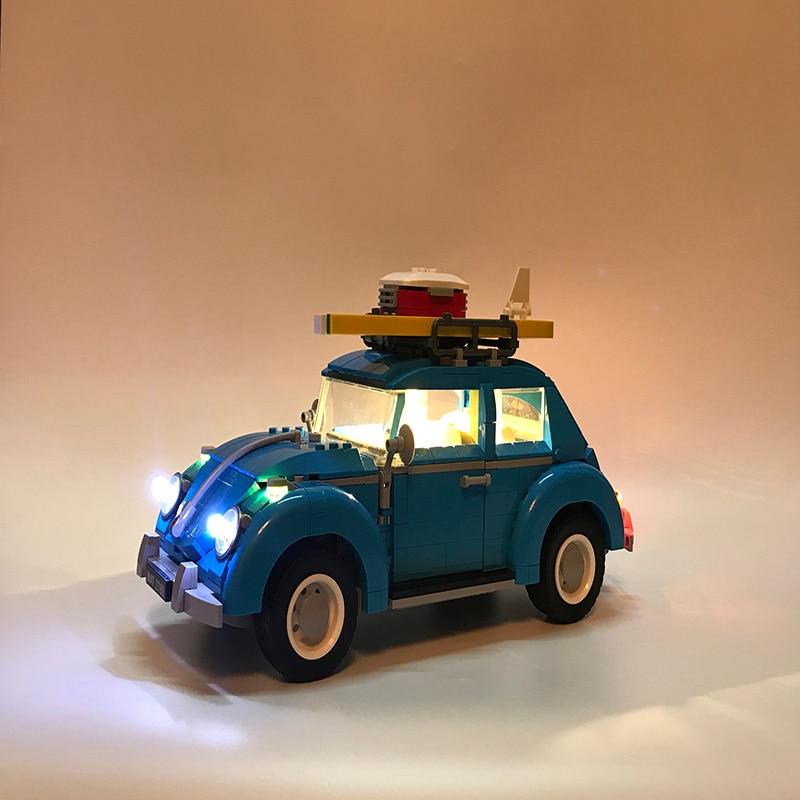 Juego de luces LED para Lego technic 10252 ciudad coche Beetle Modelo Compatible 21003 bloques juguetes técnica coche Beetle iluminación