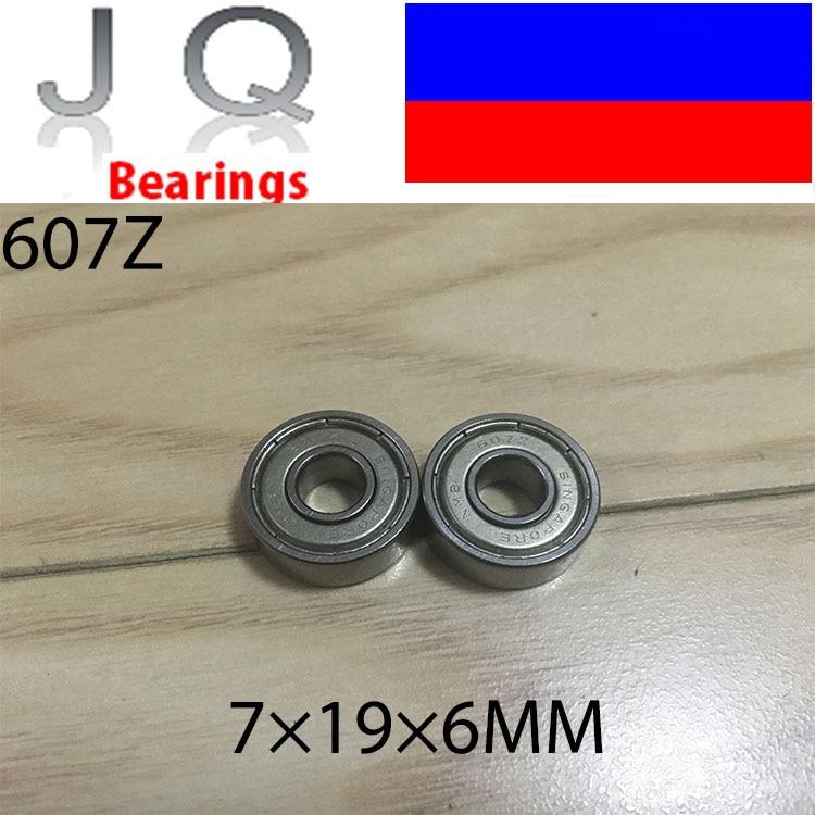 JQ rodamientos con envío gratis 607ZZ ABEC-5 50 Uds 7x19x6 MM miniatura 607Z rodamientos de bolas 607 ZZ EMQ Z3 V3