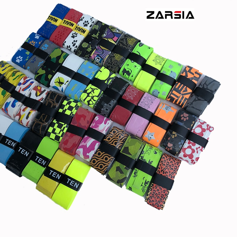 10pcs ZARSIA NEW Sticky feel Tennis Grip various printing pattern badminton racket overgrips