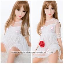 Muñecas sexuales reales de silicona 100cm pecho plano Mini chica joven adulto amor muñeca realista pecho pequeño