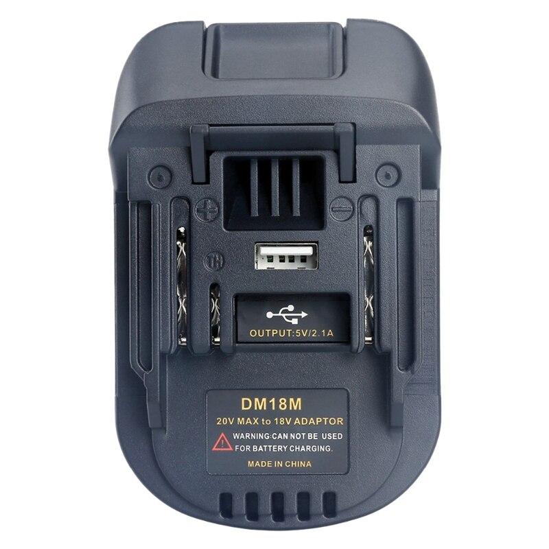18В Doscing батарея преобразования Dm18M литий-ионный Зарядное устройство инструмент адаптер для Milwaukee Makita Bl1830 Bl1850 литиевая никель вольт батарея