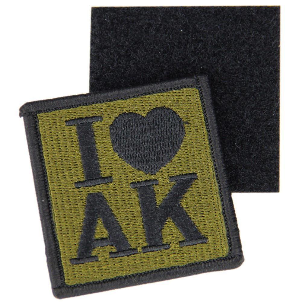 I Love AK militar ejército táctico moral bordado parches para ropa emblema apliques insignias