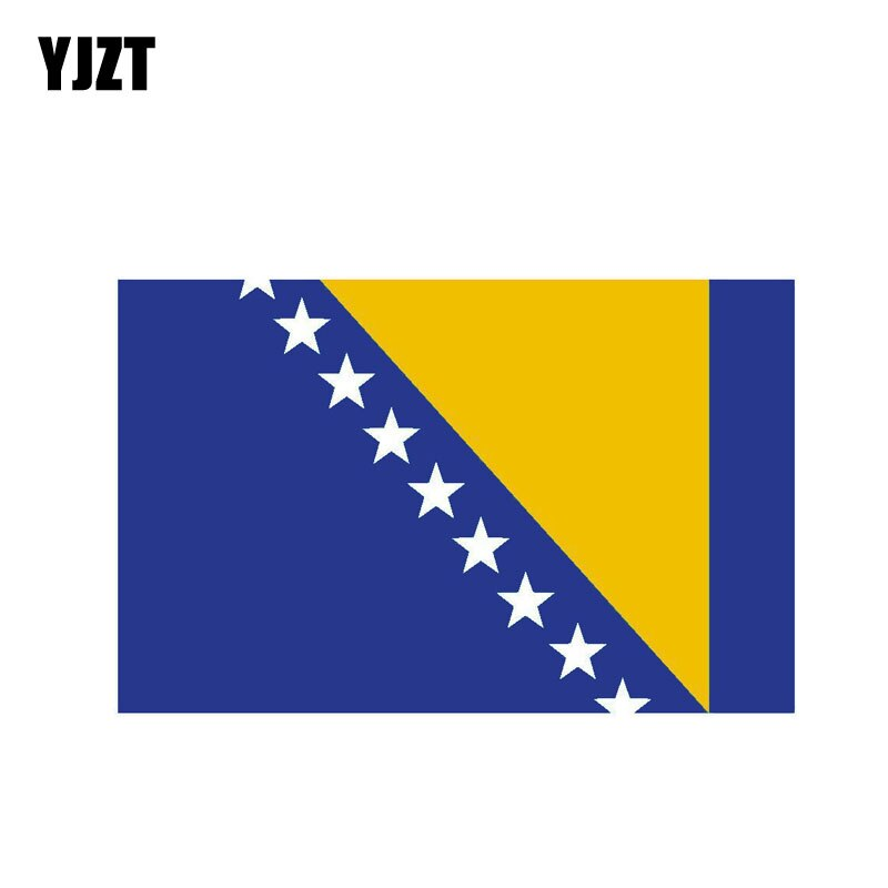 YJZT 13CM*8.2CM Car Styling Bosnia And Herzegovina Flag Car Sticker Motorcycle Helmet Decal 6-0460