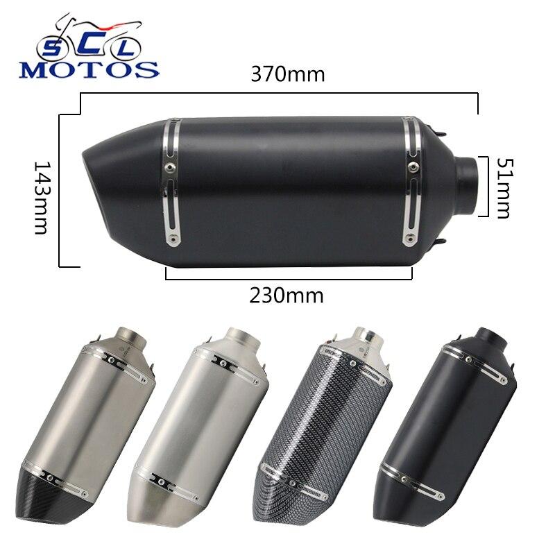 Scl-silenciador de tubo de Escape para moto Akrapov Yoshimura, de 51MM, para...