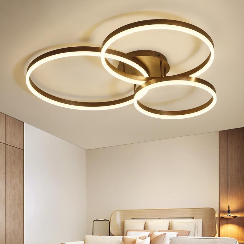 Kreative Moderne Kreis Ringe Led-deckenleuchten Für Wohnzimmer Schlafzimmer Esszimmer lamparas de techo Decke Lampe Leuchten