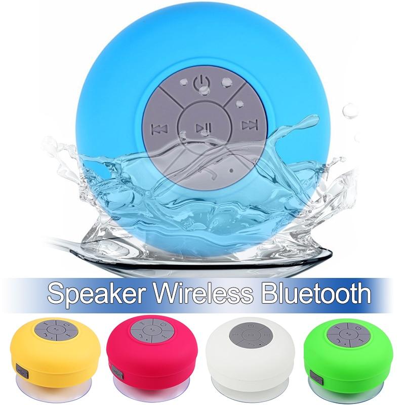Mini Bluetooth רמקול נייד דיבורית עמיד למים אלחוטי רמקולים אמבטיה סטריאו סאב מוסיקה רמקול עם יניקה