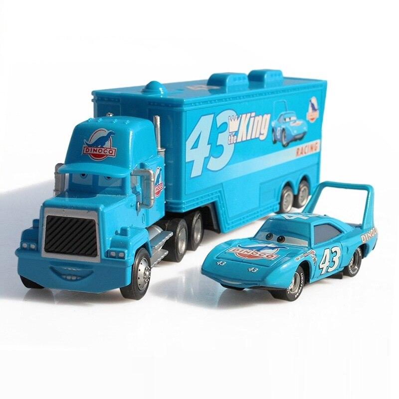 Disney Pixar Cars 2 3 Mack Onkel No. 43 König Diecast Metall Kunststoff legierung Spielzeugauto modell für kinder geschenk 155 Nagelneu Auf Lager