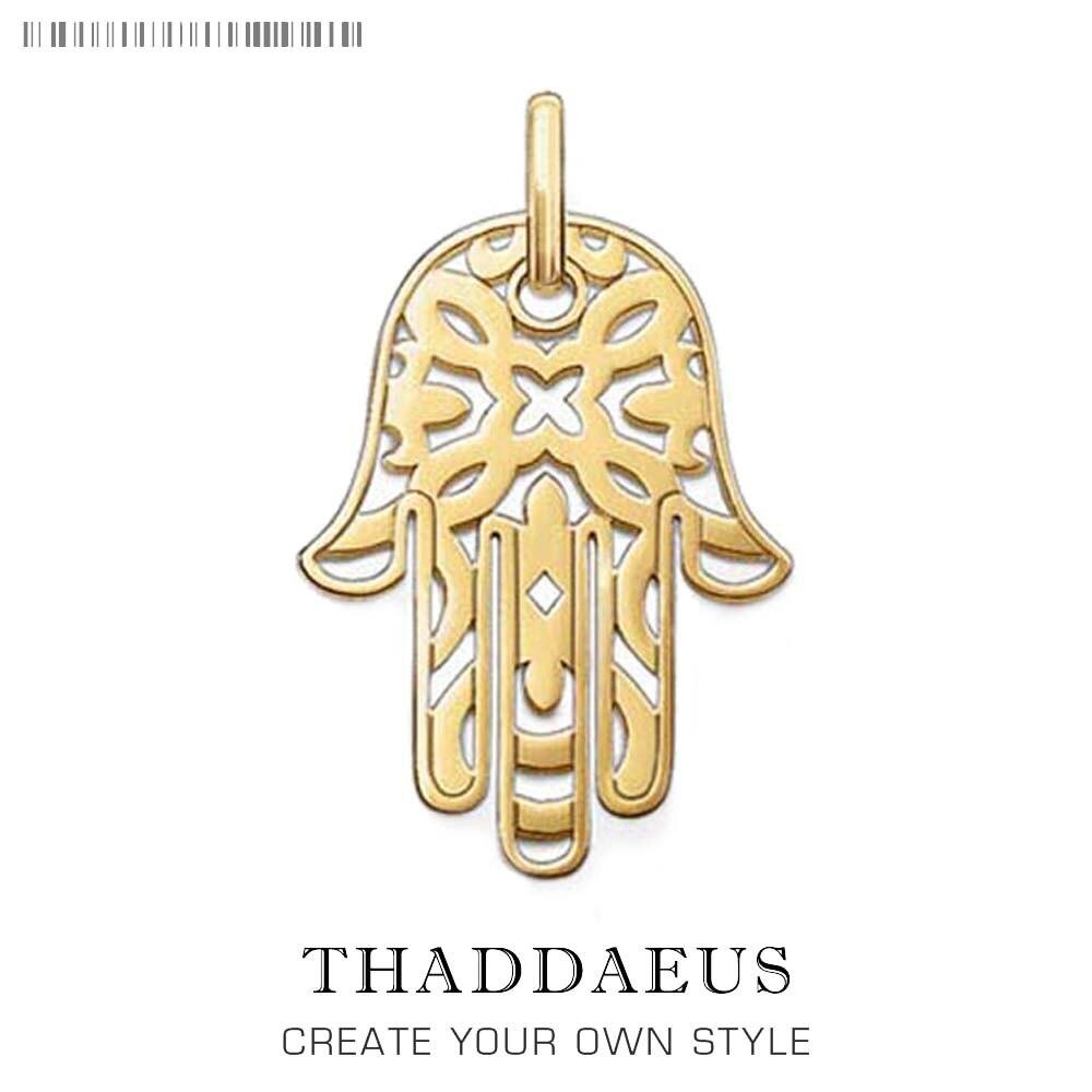Colgante de mano de Fátima, 2019, Nueva joyería de Color oro puro, Thomas Bijoux accesorio, regalo de plata esterlina 925 para hombres y mujeres