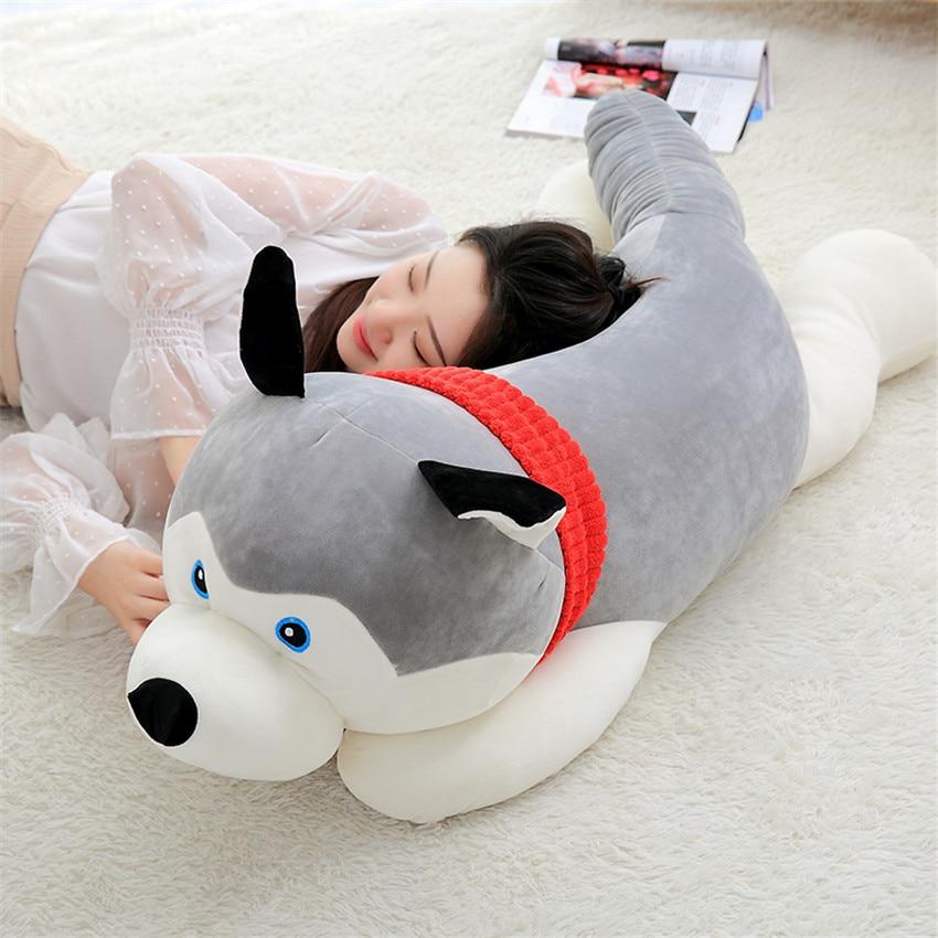 50/80cm Kawaii Husky Soft Plush Dog Dolls Stuffed Animal Kids Toy Simulation Christmas Birthday Gifts For Brinquedos